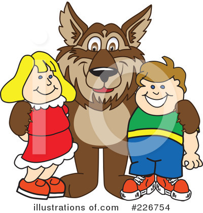 Wolf Mascot Clipart #226754 by Toons4Biz