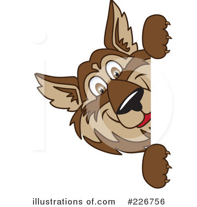 Wolf Mascot Clipart #226756 by Toons4Biz