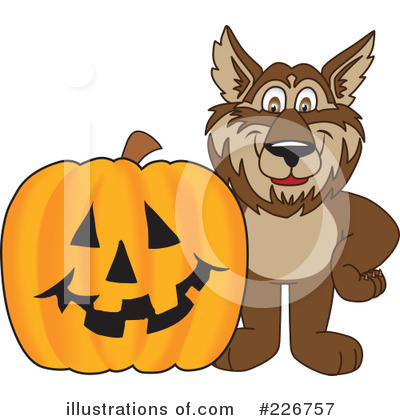 Wolf Mascot Clipart #226757 by Toons4Biz