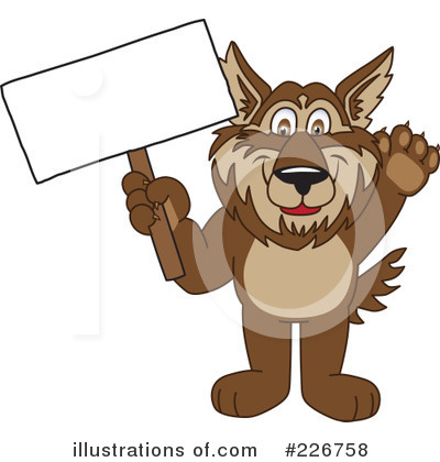 Wolf Mascot Clipart #226758 by Toons4Biz