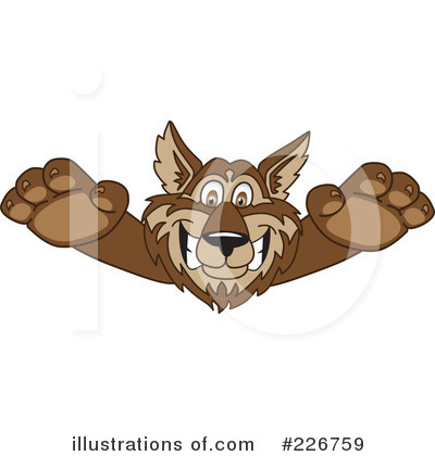Wolf Mascot Clipart #226759 by Toons4Biz