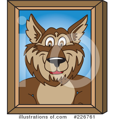 Wolf Mascot Clipart #226761 by Toons4Biz