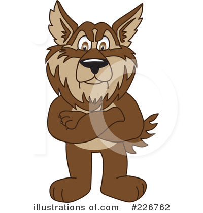 Wolf Mascot Clipart #226762 by Toons4Biz