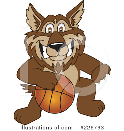 Wolf Mascot Clipart #226763 by Toons4Biz