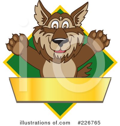 Wolf Mascot Clipart #226765 by Toons4Biz