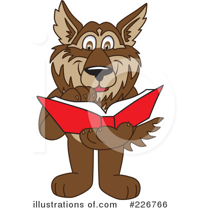 Wolf Mascot Clipart #226766 by Toons4Biz