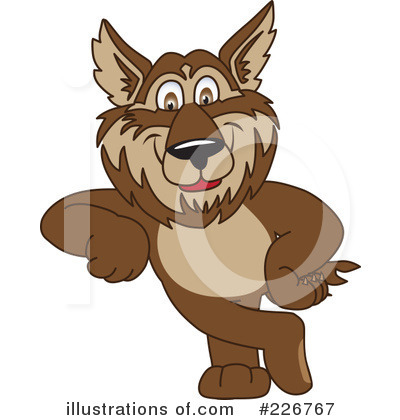 Wolf Mascot Clipart #226767 by Toons4Biz