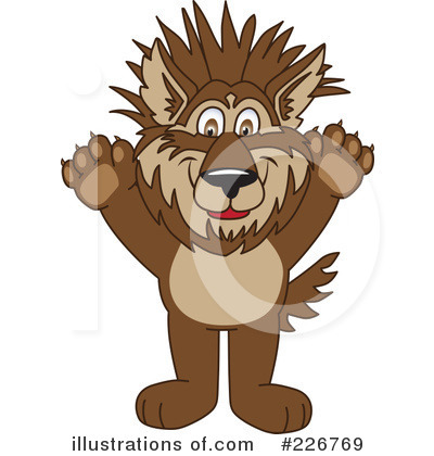 Wolf Mascot Clipart #226769 by Toons4Biz