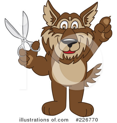 Wolf Mascot Clipart #226770 by Toons4Biz