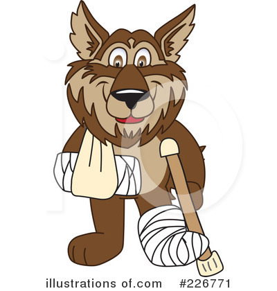 Wolf Mascot Clipart #226771 by Toons4Biz