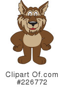 Wolf Mascot Clipart #226772 by Toons4Biz