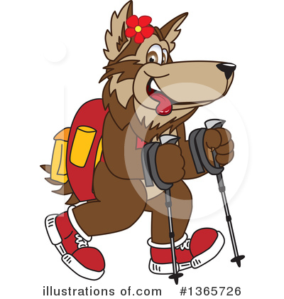 Wolf Mascot Clipart #1365726 by Toons4Biz