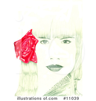 Royalty-Free (RF) Woman Clipart Illustration by Spanky Art - Stock Sample #11039