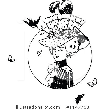 Royalty-Free (RF) Woman Clipart Illustration by Prawny Vintage - Stock Sample #1147733