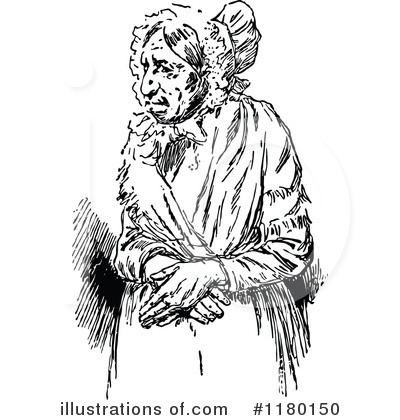 Old Woman Clipart #1180150 by Prawny Vintage