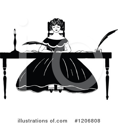 Royalty-Free (RF) Woman Clipart Illustration by Prawny Vintage - Stock Sample #1206808