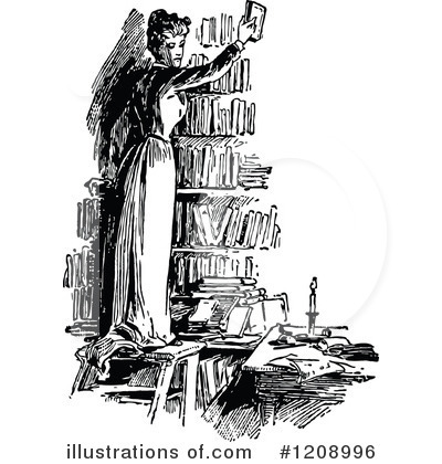 Reading Clipart #1208996 by Prawny Vintage