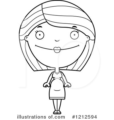 Pregnant Woman Clipart #1212594 by Cory Thoman
