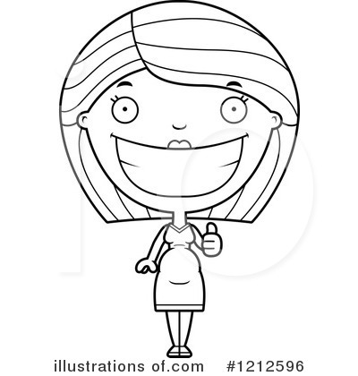 Pregnant Woman Clipart #1212596 by Cory Thoman