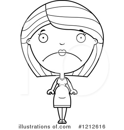 Pregnant Woman Clipart #1212616 by Cory Thoman