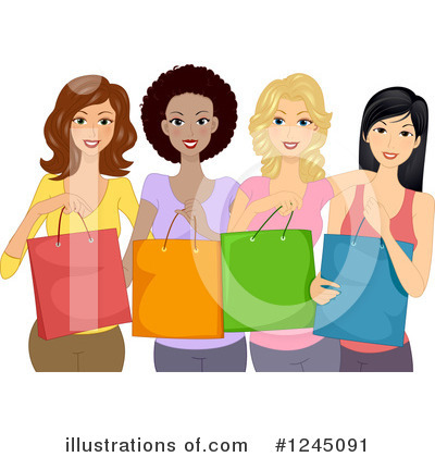 Shopping Bags Clipart #1245091 by BNP Design Studio