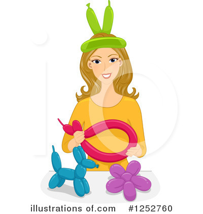 Party Balloons Clipart #1252760 by BNP Design Studio