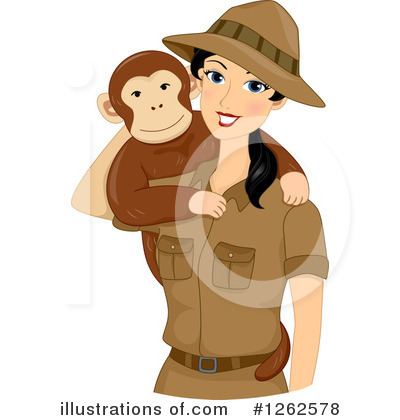 Monkey Clipart #1262578 by BNP Design Studio