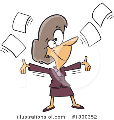 Businesswoman Clipart #1300352 by toonaday