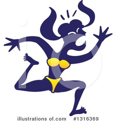 Royalty-Free (RF) Woman Clipart Illustration by Zooco - Stock Sample #1316369