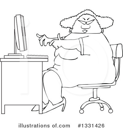 Secretary Clipart #1331426 by djart
