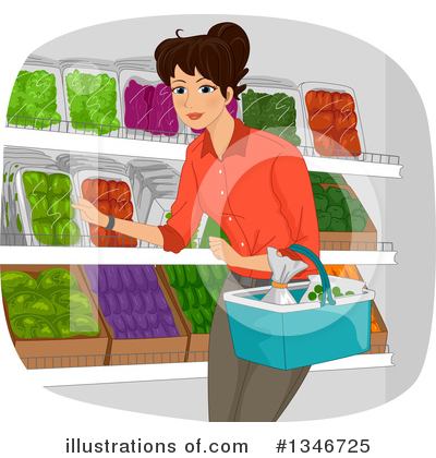 Groceries Clipart #1346725 by BNP Design Studio