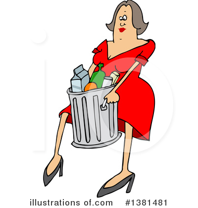 Garbage Can Clipart #1381481 by djart
