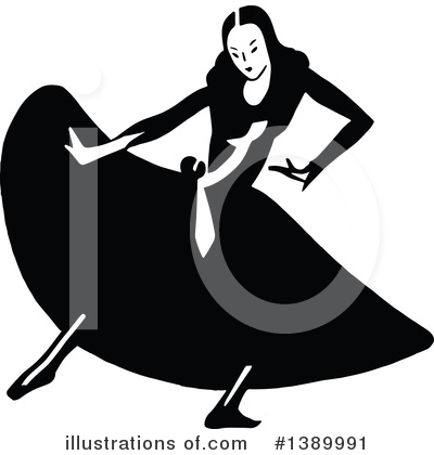 Royalty-Free (RF) Woman Clipart Illustration by Prawny Vintage - Stock Sample #1389991