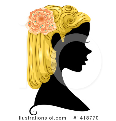 Hairstyle Clipart #1418770 by BNP Design Studio