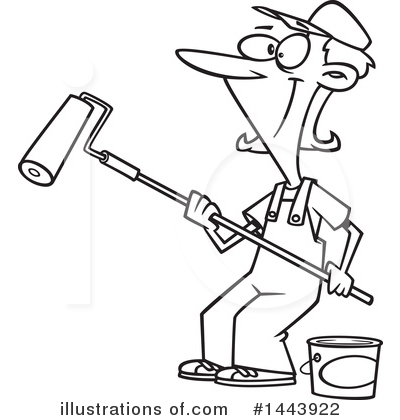 House Painter Clipart #1443922 by toonaday