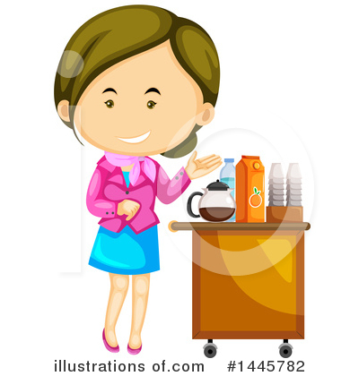 Stewardess Clipart #1445782 by Graphics RF