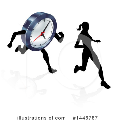 Runners Clipart #1446787 by AtStockIllustration