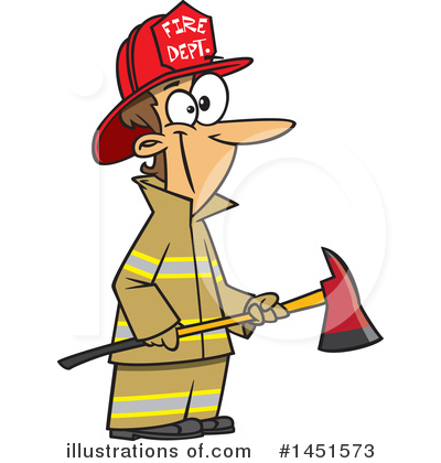 Firefighter Clipart #1451573 by toonaday
