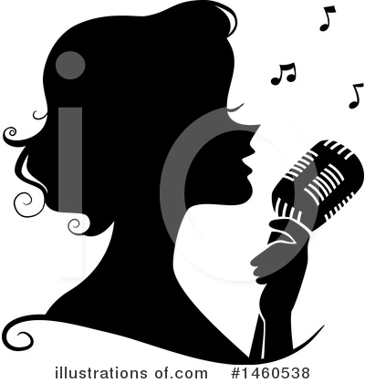 Singer Clipart #1460538 by BNP Design Studio