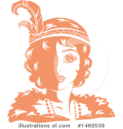 Flapper Girl Clipart #1460539 by BNP Design Studio