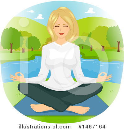 Meditating Clipart #1467164 by BNP Design Studio