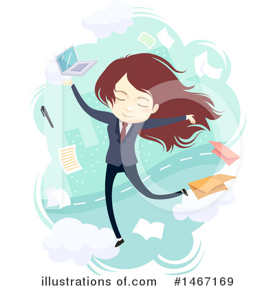 Businesswoman Clipart #1467169 by BNP Design Studio