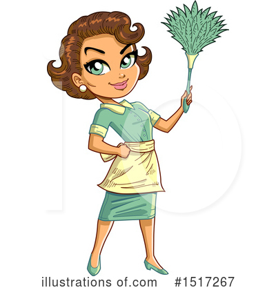 Housewife Clipart #1517267 by Clip Art Mascots