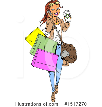 Royalty-Free (RF) Woman Clipart Illustration by Clip Art Mascots - Stock Sample #1517270