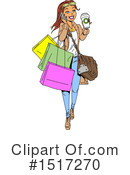 Woman Clipart #1517270 by Clip Art Mascots