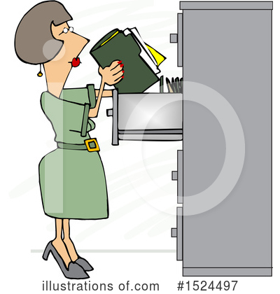 Business Woman Clipart #1524497 by djart