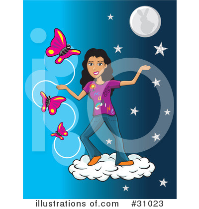 Moon Clipart #31023 by David Rey