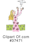 Royalty-Free (RF) Woman Clipart Illustration #37471