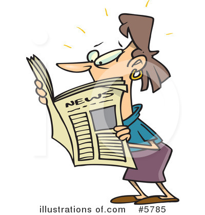 Newspaper Clipart #5785 by toonaday