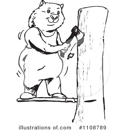 Wombat Clipart #1108789 by Dennis Holmes Designs